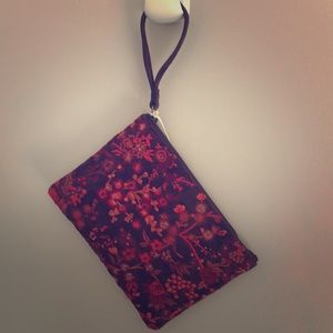 Lucky brand embroidered wristlet.
